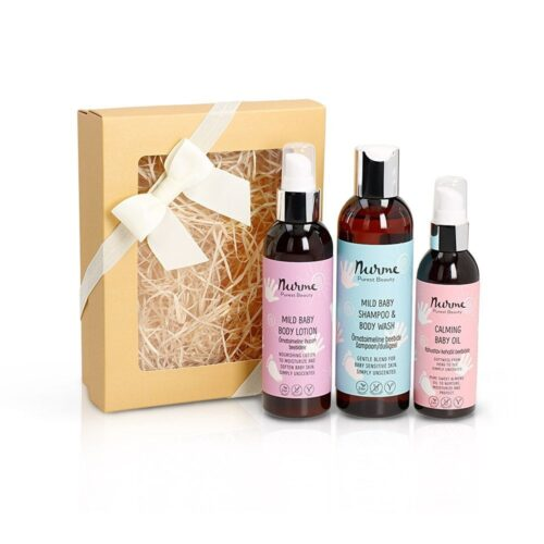 Baby body care kit for dry skin