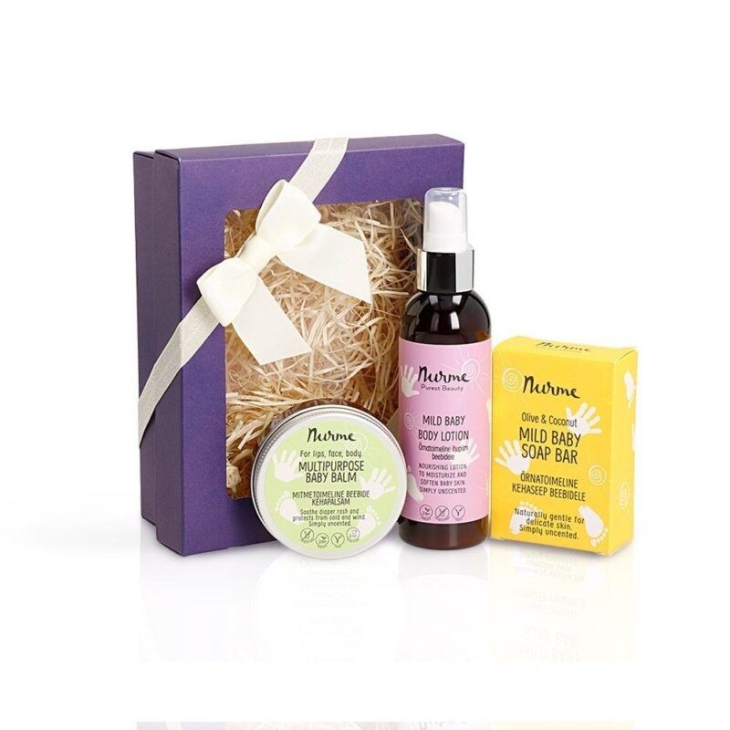 Baby body care kit for winter