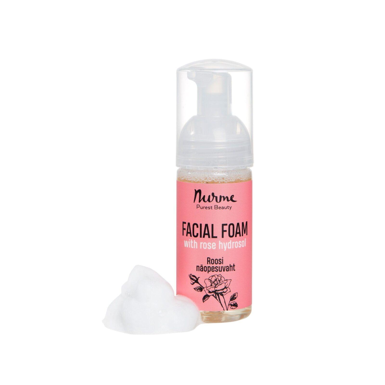 Facial foam with rose