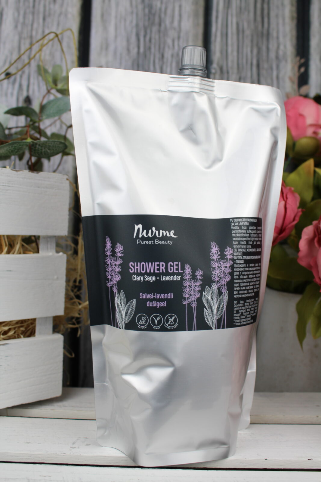 Nurme looduslik dušigeel lavendel ja salvei täitepakend